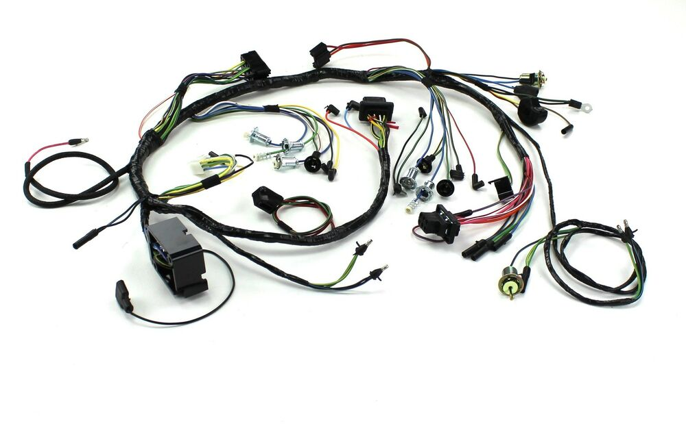 mustang underdash wiring complete w lamps 2 speed heater 1965 ebay. Black Bedroom Furniture Sets. Home Design Ideas