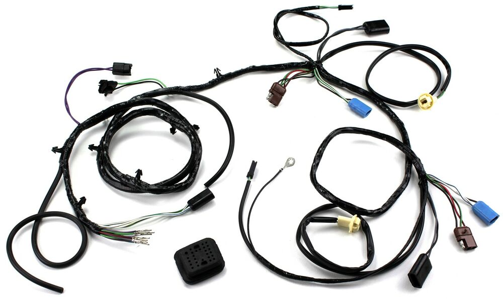 mustang head light wiring harness w   sport lamps late