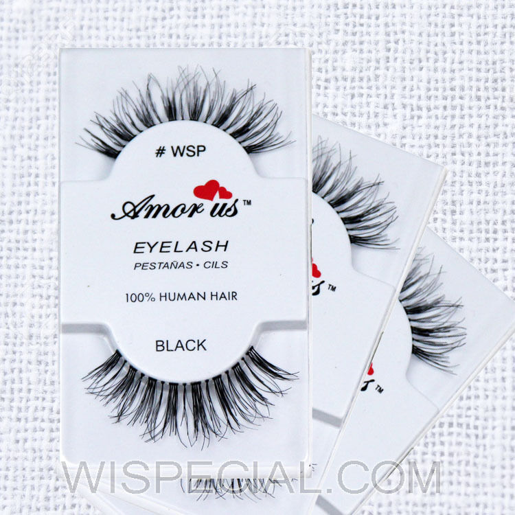 Wsp 3pack Amor Us 100 Human Hair False Eyelashes Compare Red Cherry
