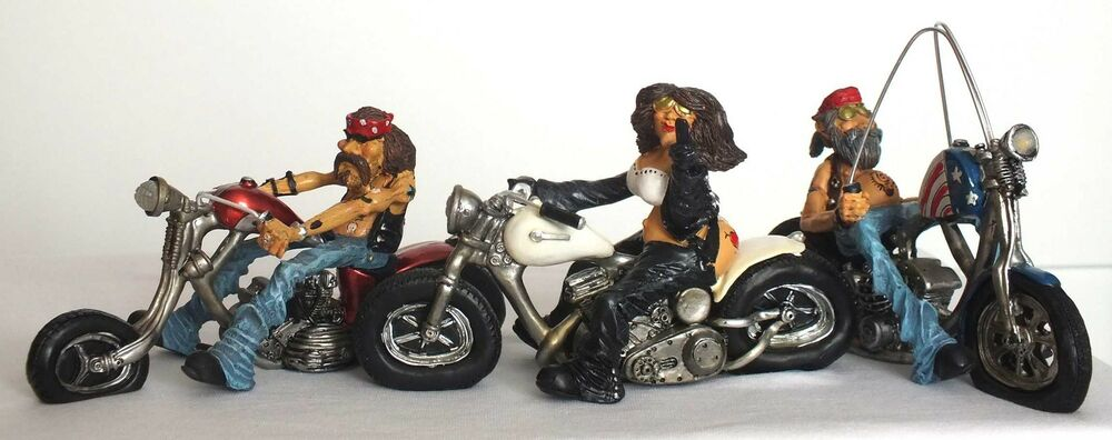 biker funny motorrad easy rider bike figuren deko spa. Black Bedroom Furniture Sets. Home Design Ideas