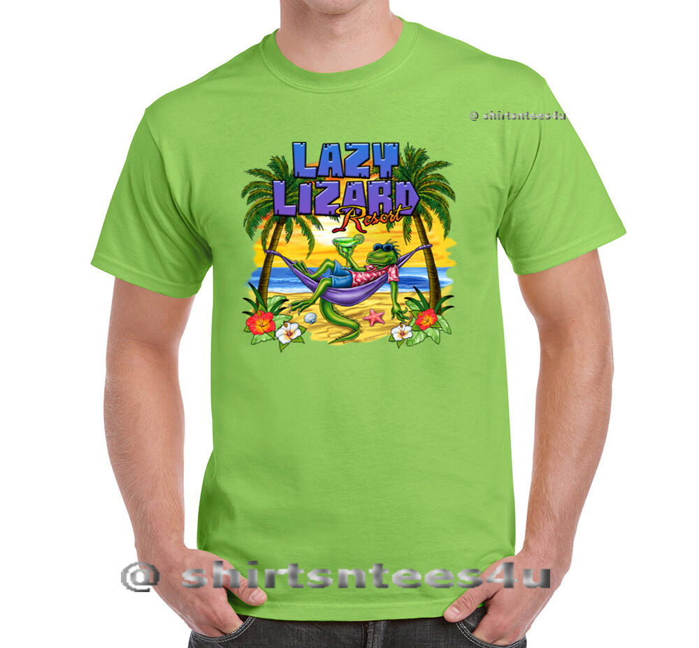 Lazy lizard graphic design mens t shirt ebay for Graphic design t shirts online