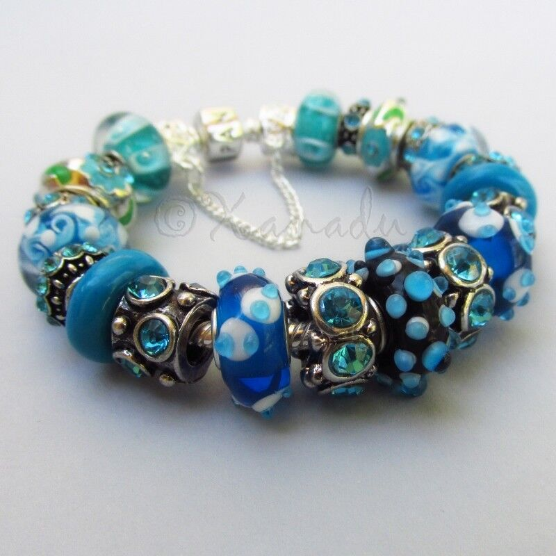 Authentic Pandora Bracelet With European Style Turquoise