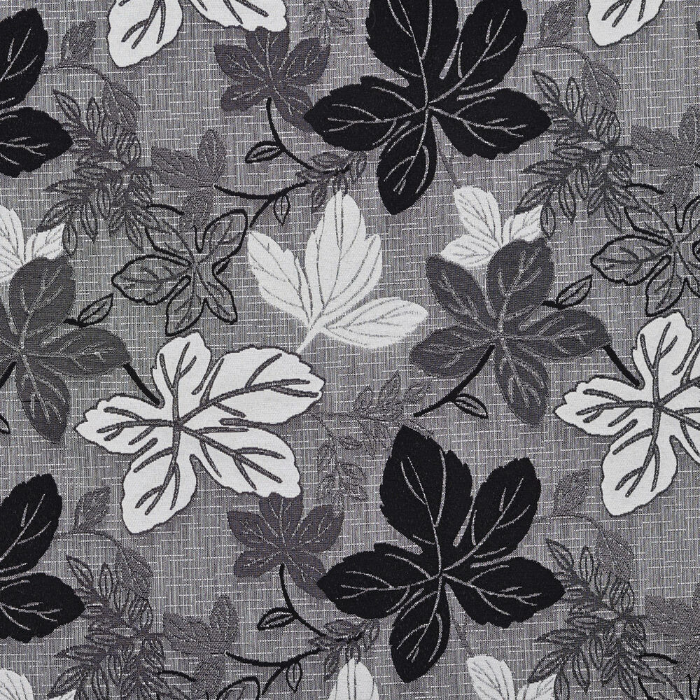 A390 contemporary black and silver large leaves upholstery for Modern fabrics textiles