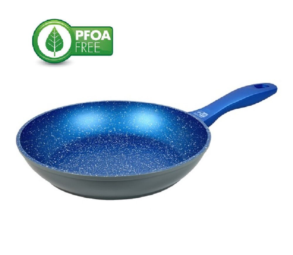 New Blue Stone Marble Coated Frypan Cookware Non Stick Fry
