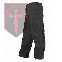 New Mens Rip-Stop Black Combat M65 TROUSERS All Sizes High Quality