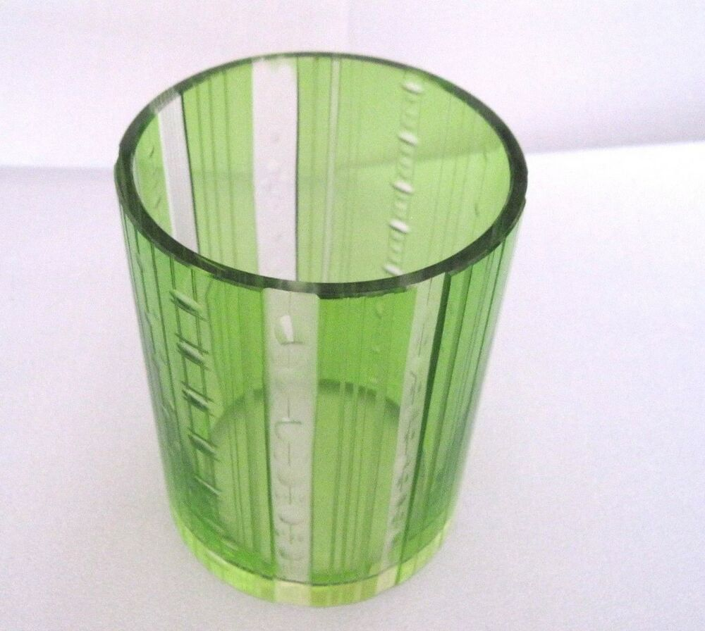 rare alte rosenthal glasvase zylinder form vase geschliffenes glas gr n 12x16 cm ebay. Black Bedroom Furniture Sets. Home Design Ideas