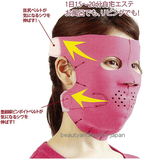 JAPAN 3D SAUNA/LIFT UP/SLIMMING FACE/FACIAL MASK SMALL ...