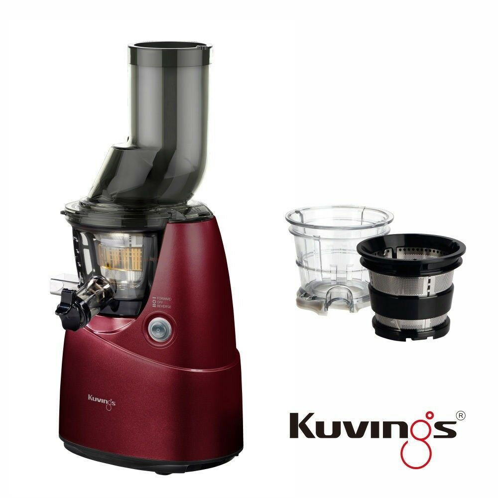 Kuvings Whole Slow Juicer A Bocca Larga : Kuvings Whole Slow Juicer B6000PR Rot + Eiscreme & Smoothies Set *DHL Express* eBay