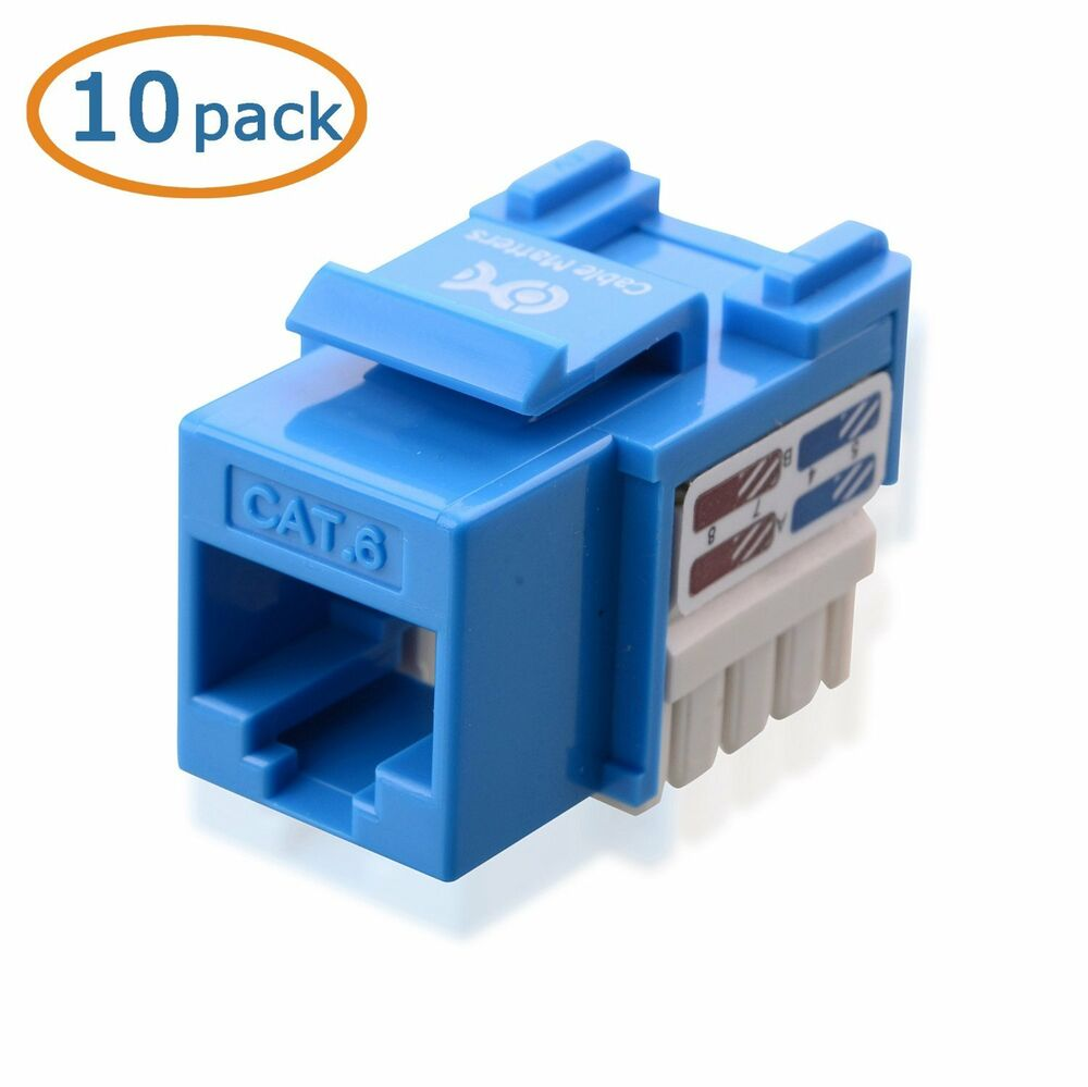 Punch Down Wiring Rj45 Jack Diagram Will Be A Thing Cable Matters U00ae 10 Pack Cat6 Keystone Cat5