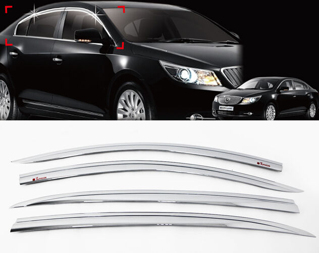 Chrome Sun Window Visor Vent Guard 4p For 2011 2014 Buick ...