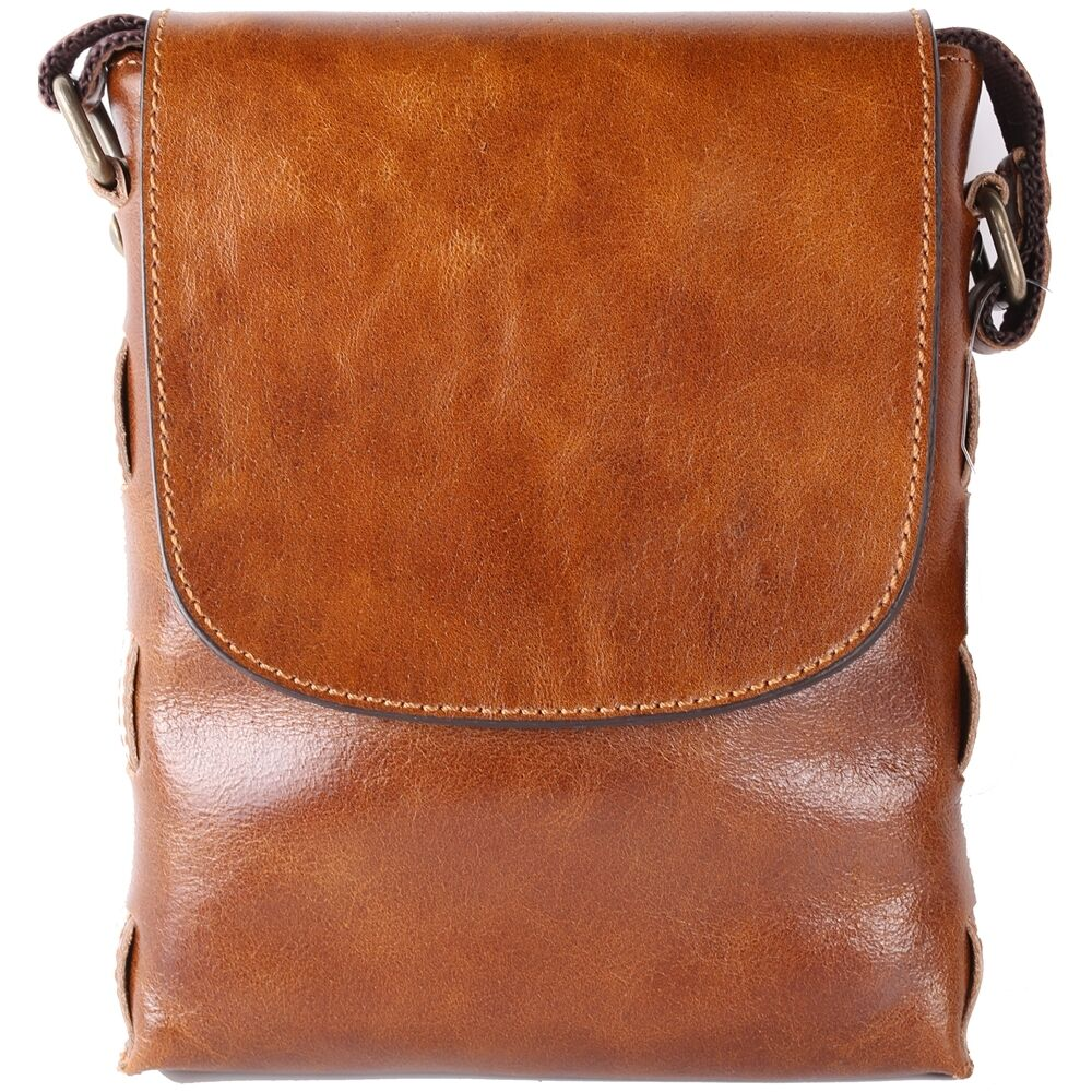 Details about Genuine Leather Man Messenger Shoulder Bag Men Bag Small  Business Bag BLE911 ce40f23c4a78b