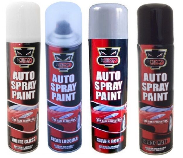 spray paint auto aerosol interior exterior gloss primer matt white silver 250ml ebay. Black Bedroom Furniture Sets. Home Design Ideas