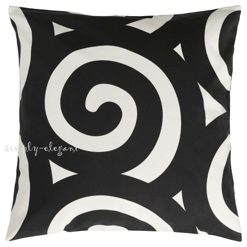 Ikea Decorative Black White Tradklover Pillow Cover Cotton Cushion