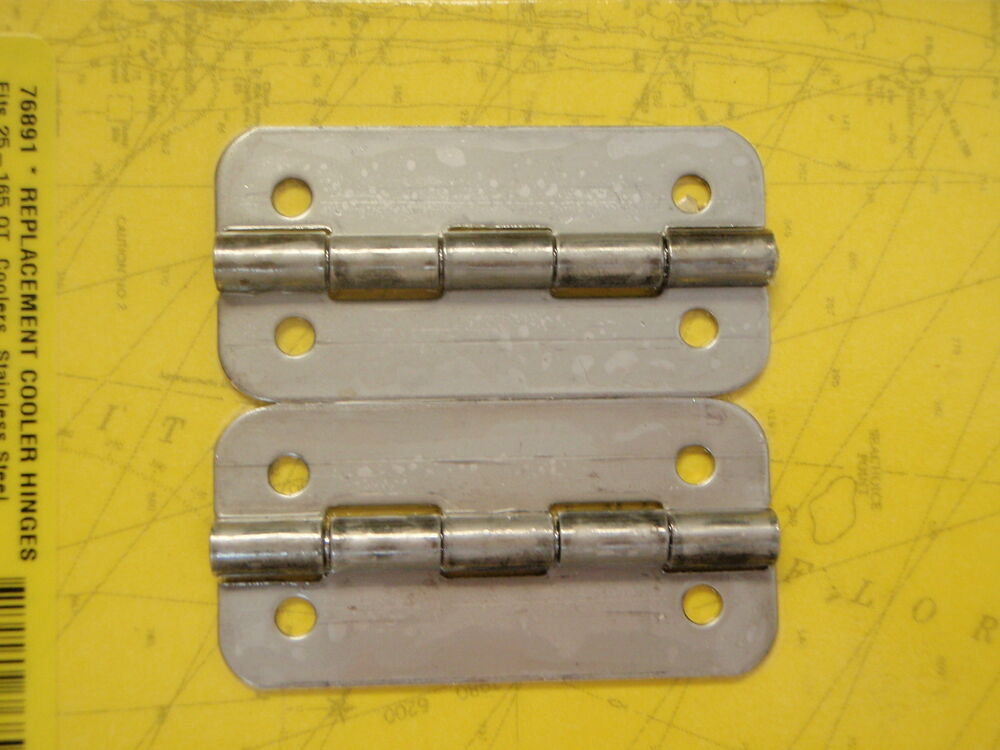 Igloo Cooler Hinges Stainless Steel 76891 Pair Fits 25