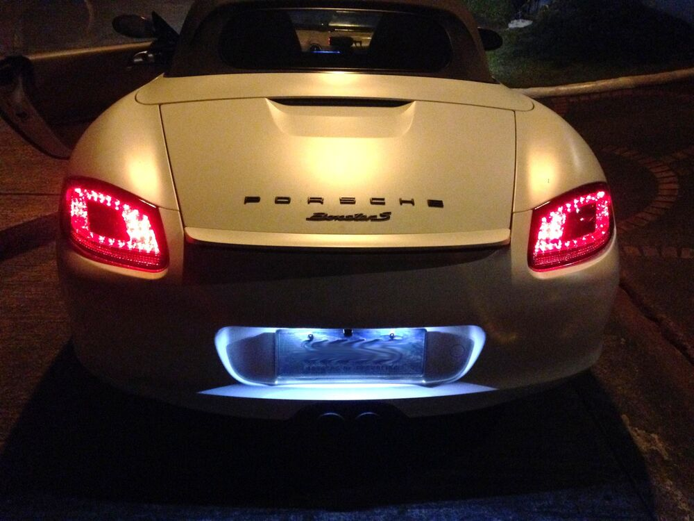 Porsche 987 Boxster Cayman Red Clear Led Tail Lights