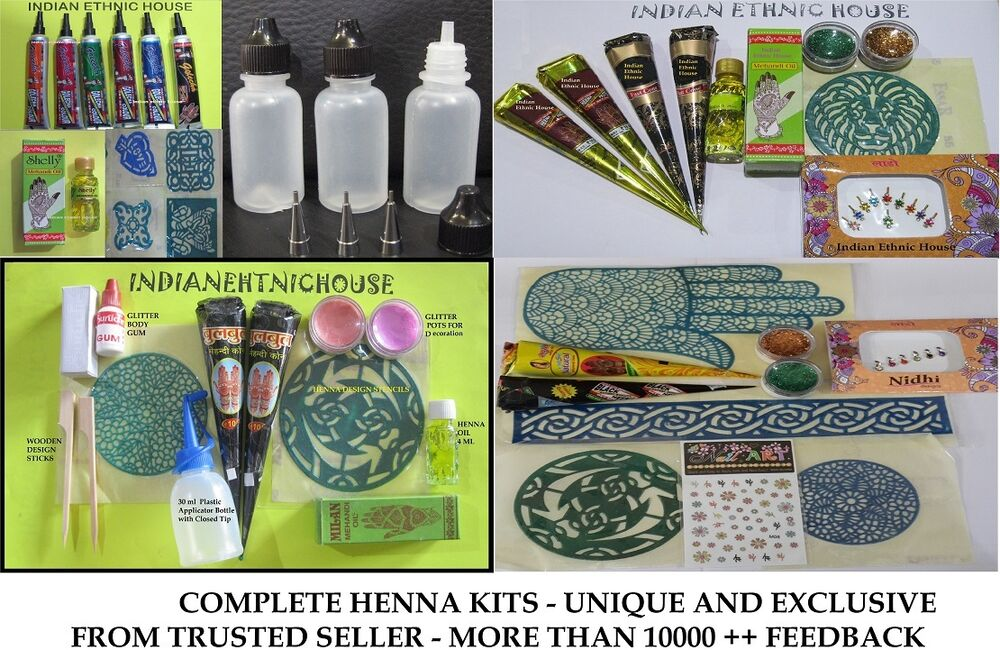 Henna kit for beginners and professionals best body art for Supplies for tattooing