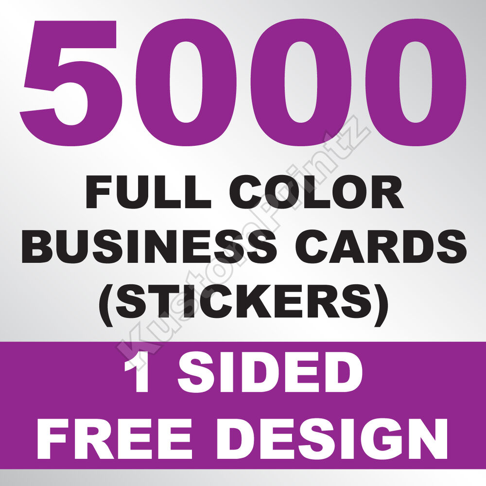 Details about 5000 custom full color business card stickers glossy uv finish free design