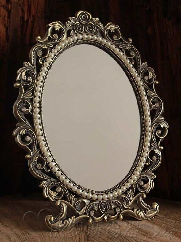 baroque decorative art deco vintage antique style vanity stand mirror ebay. Black Bedroom Furniture Sets. Home Design Ideas