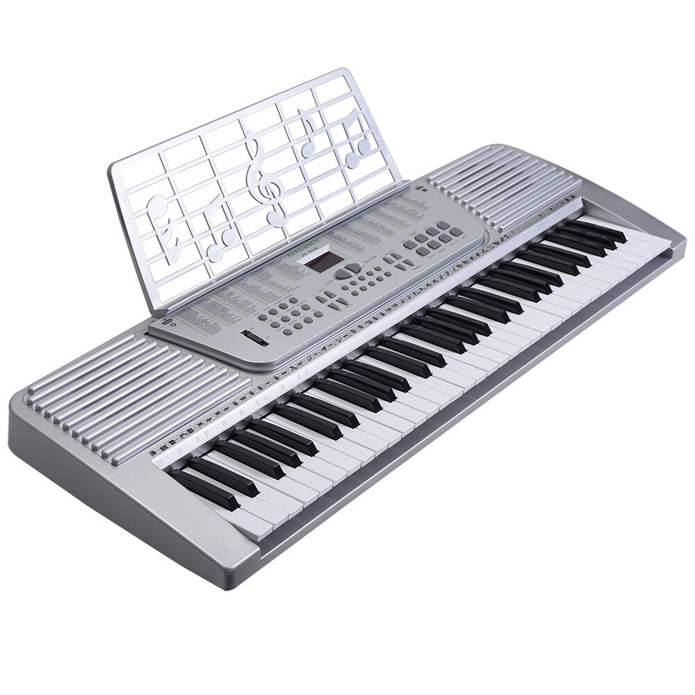 new 61 key digital electronic music keyboard electric piano organ white ebay. Black Bedroom Furniture Sets. Home Design Ideas