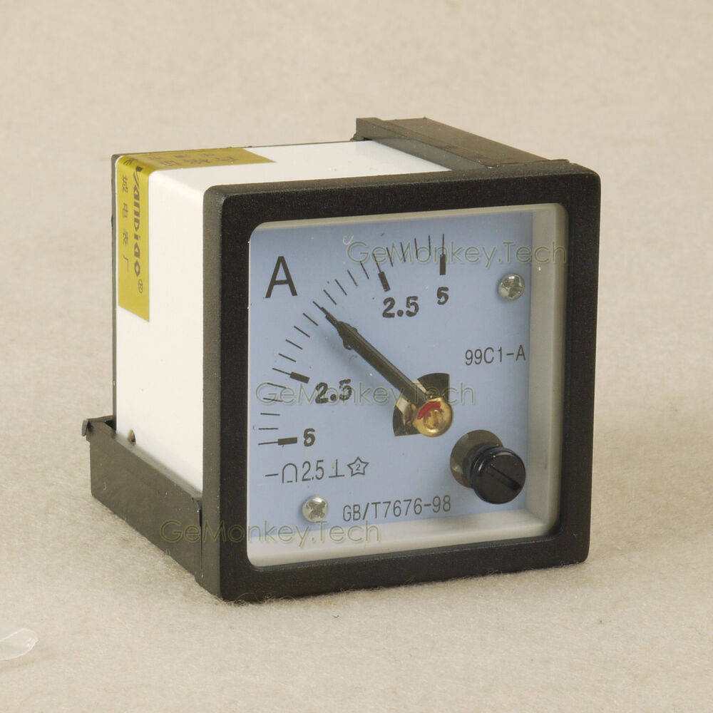Analog Panel Meter : Analog amp current panel meter angle ± a dc ebay