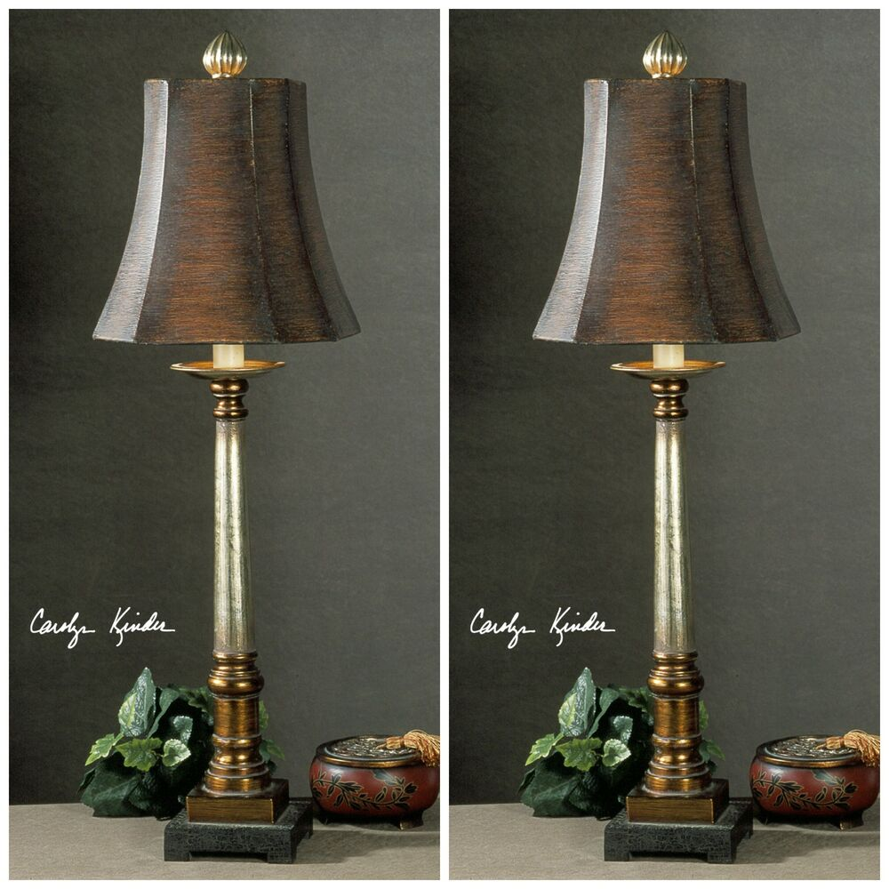 lamp shades for table lamps set of two bronze and silver table lamps square brown 31106