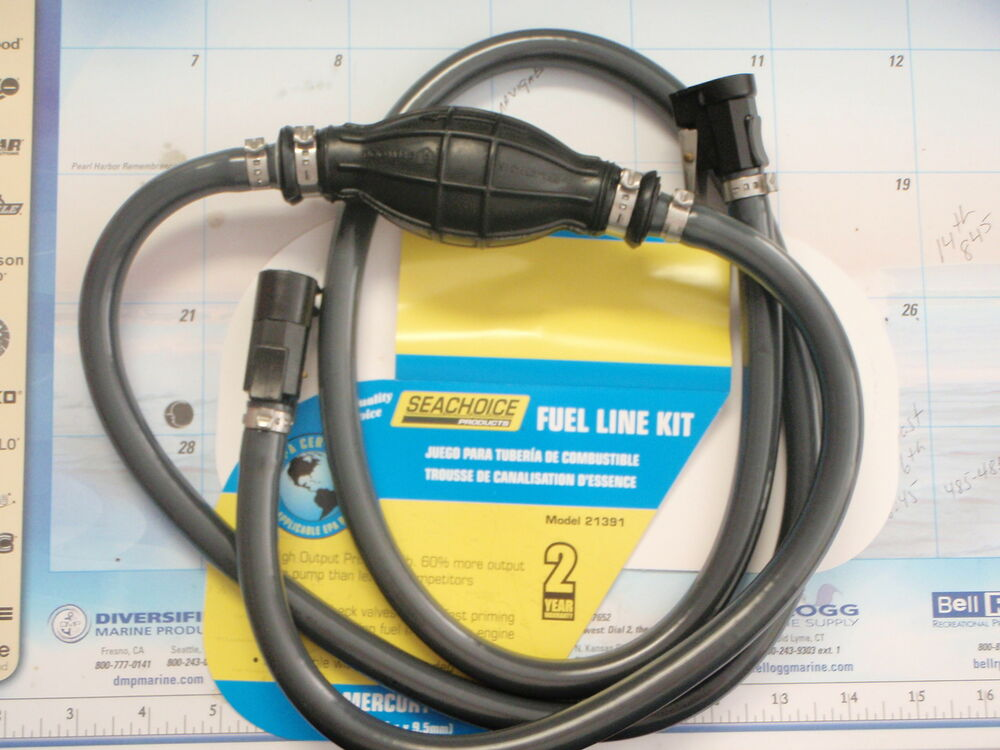 Fuel line mercury outboard 21391 3 8 alcohol resistant for Outboard motor gas tank hose