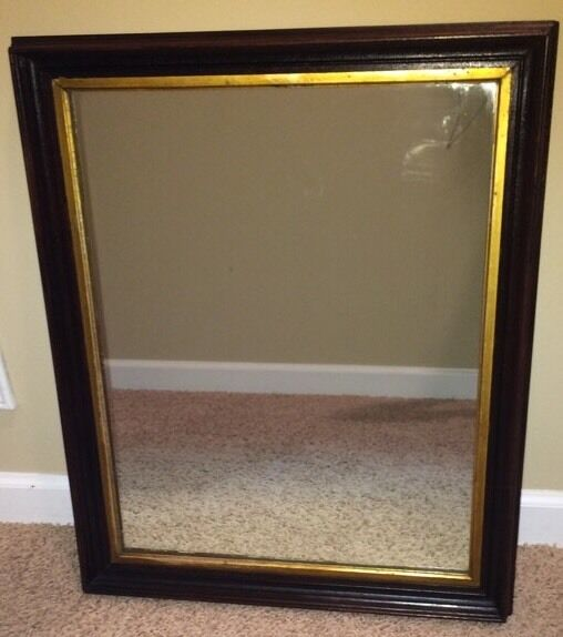 antique deep well large gold graduated picture frame mirror heavy 20 x 25 ebay. Black Bedroom Furniture Sets. Home Design Ideas