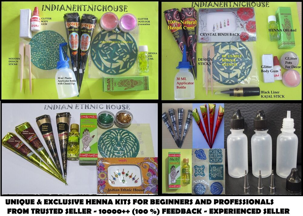 Henna Tattoo Kits Afterpay: Worlds Best Henna Kit For Beginner & Professionals For