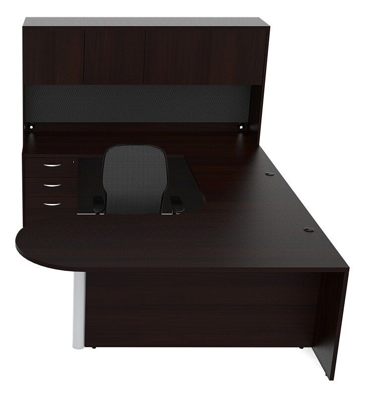 New Amber Bullet U-Shape Executive Office Desk with Hutch | eBay