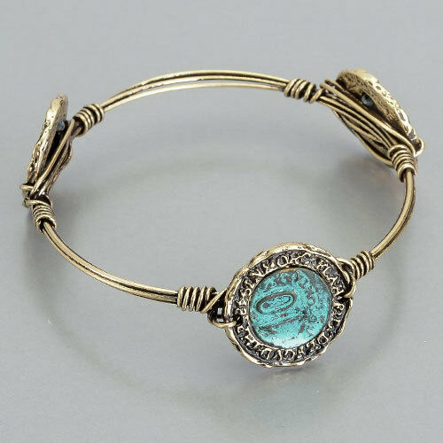 gold wire wrapped ancient coin bangle bracelet ebay