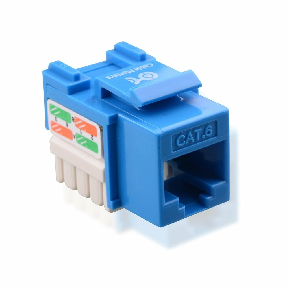 Cable Matters 25 Pack Cat6 Rj45 Punch Down Keystone