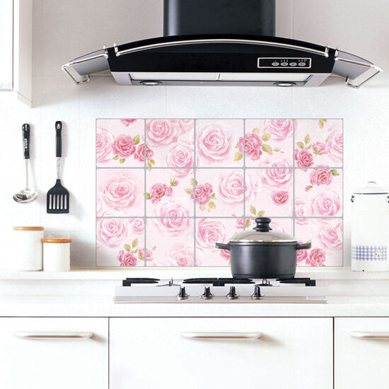 adhesive backsplash tiles kitchen aluminum foil pink tiles self adhesive wallpaper for 3990