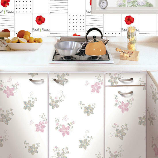 contact paper tiles self adhesive wallpaper kitchen backsplash