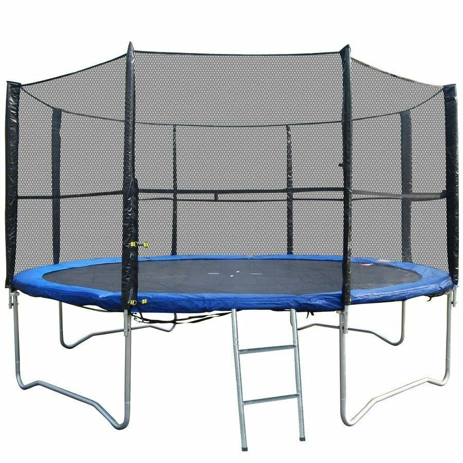 12FT REPLACEMENT 8 POLE TRAMPOLINE SAFETY NET ENCLOSURE