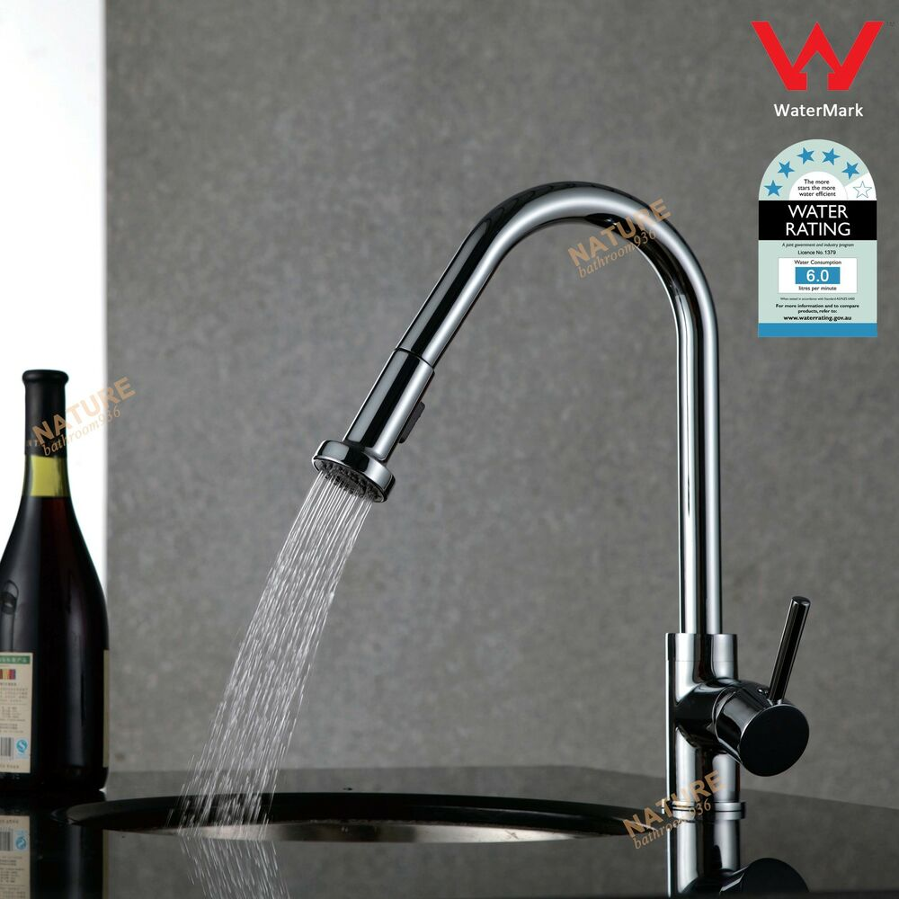 Kitchen Sink Basin Laundry Faucet Pull Out Spray Mixer Tap Swivel Spout Chrome Ebay