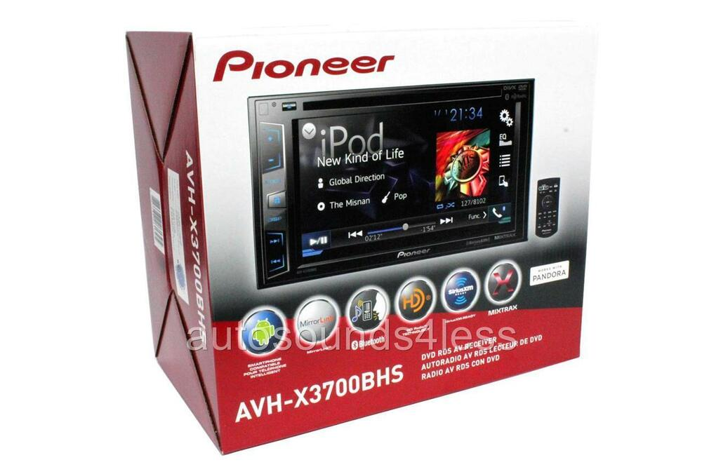 pioneer avh x3700bhs double 2 din indash dvd player 6 2 lcd bluetooth hd radio ebay. Black Bedroom Furniture Sets. Home Design Ideas