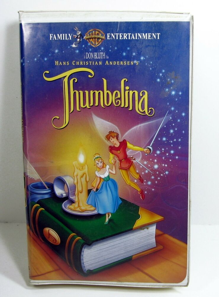 thumbelina vhs 1994 clamshell video movie warner