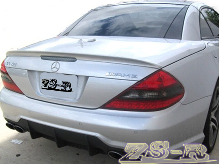 Details About 03 11 Mercedes R230 Sl500 Sl550 Paint 775 Iridium Silver Amg Look Trunk Spoiler