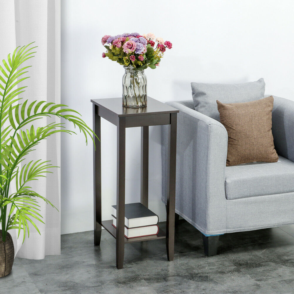 Tall end table coffee stand nightstand plant telephone vase stand drawer living ebay Bedroom coffee table