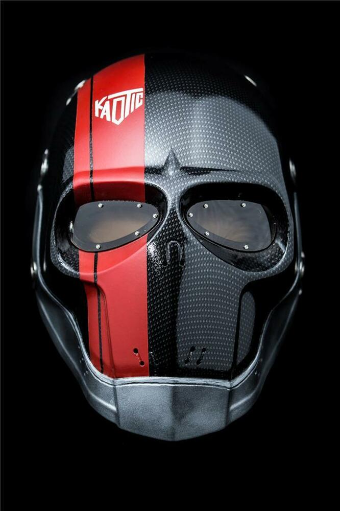 FMA. Army of Two Airsoft FMA Elliot DMF Mask With Wire Mesh Red And Black Stamped Steel Eyes.