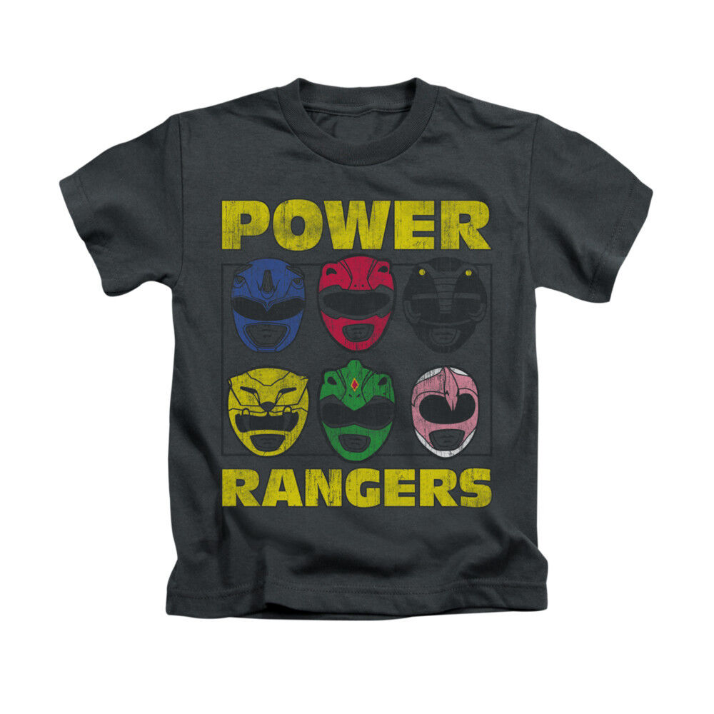 Power Rangers Ranger Heads Toddler Boy Graphic Tee Shirt