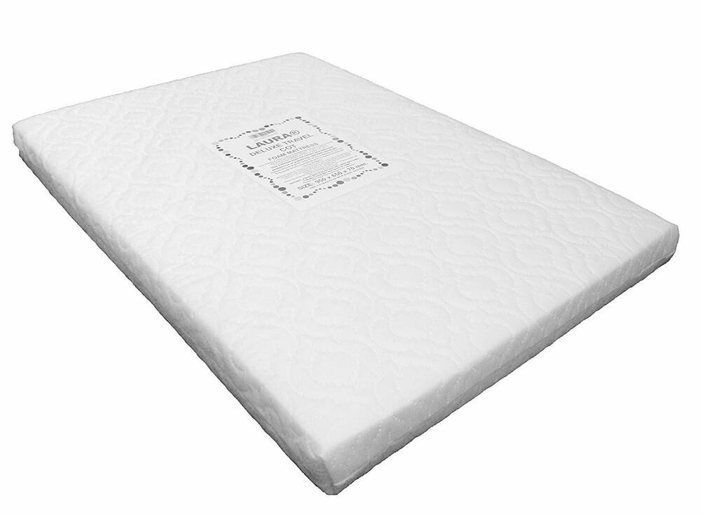 Laura 95x65cm Baby Travel Cot Mattress 7cm Extra Thick