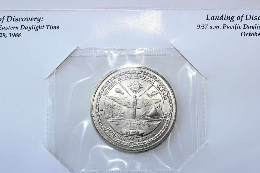 marshall islands space shuttle discovery coin - photo #2
