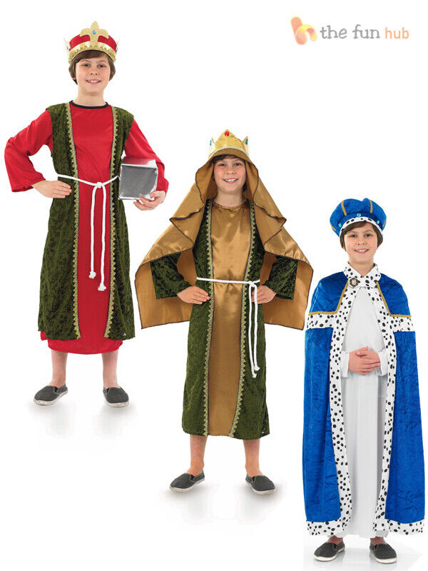 Boys king costume three wise men christmas nativity play