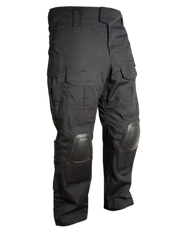 black special ops trousers with built in knee pads ripstop urban combat pants ebay. Black Bedroom Furniture Sets. Home Design Ideas