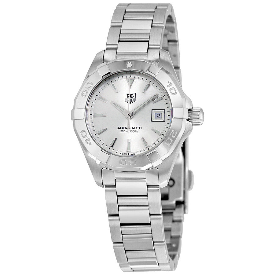 Tag heuer aquaracer silver dial stainless steel ladies watch way1411 ba0920 ebay for Tag heuer women