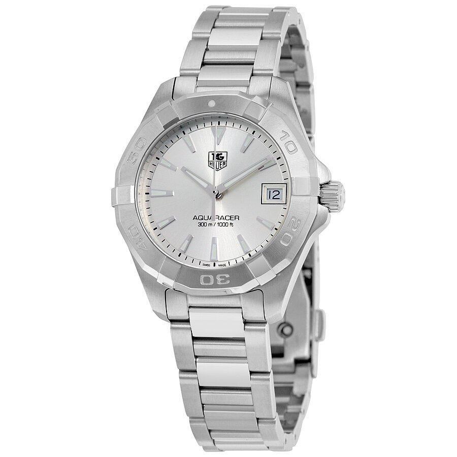 tag heuer aquaracer silver stainless steel
