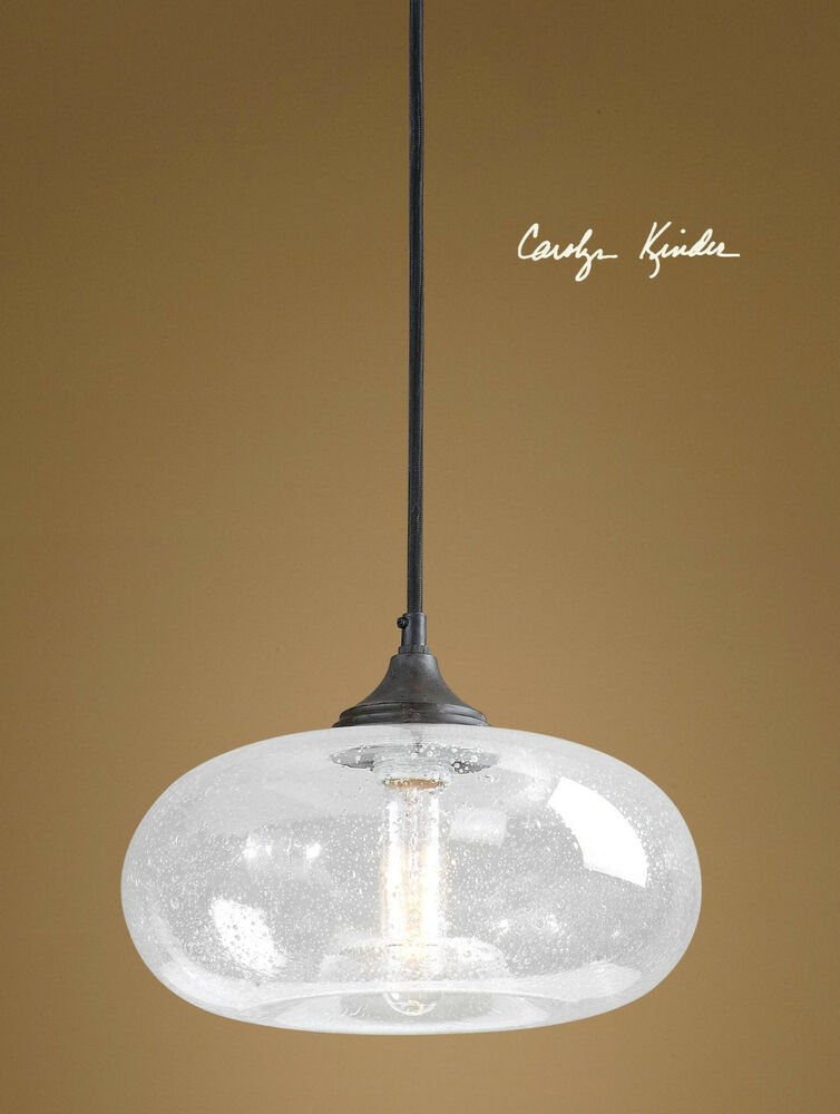 new seeded glass pendant light ceiling fixture lamp contemporary or. Black Bedroom Furniture Sets. Home Design Ideas