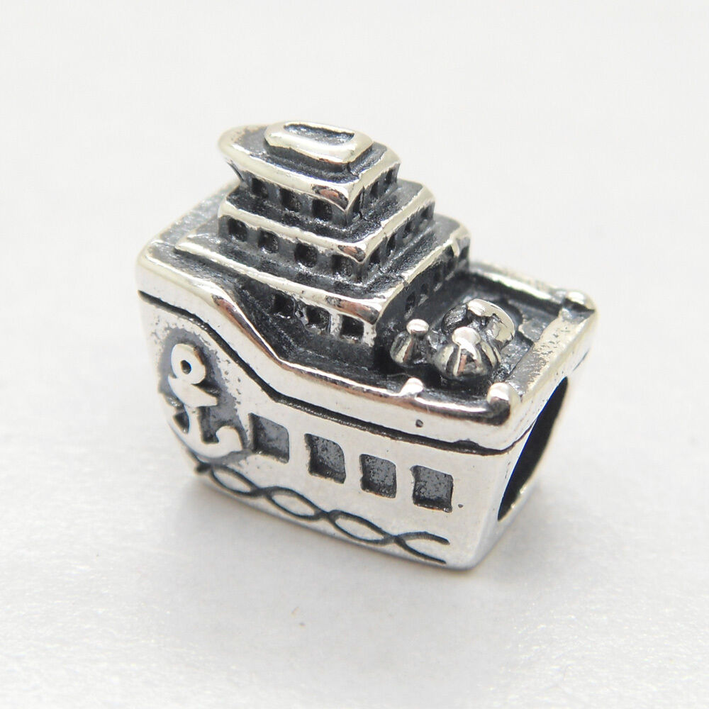 NEW Authentic S925 Sterling Silver CRUISE SHIP CHARM Bead