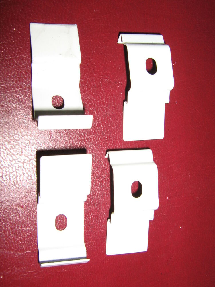 4 X Vertical Blind Top Fix Brackets Clips For Slimline
